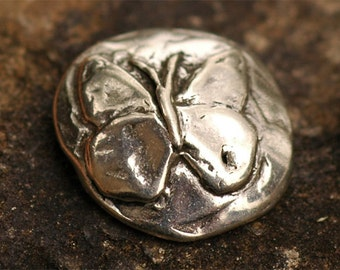 Butterfly Sterling Silver Button Clasp