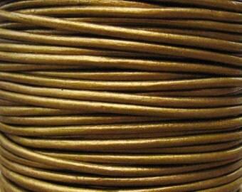 Round Metallic Leather Cord 2mm Metallic Tota - 2 yards Leather Cording