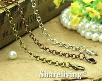 4pcs Silver / Bronze / Copper Finished Rolo Chains