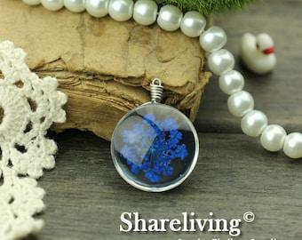 1pcs High Quality Handmade Glass Wire Wrapped Charm / Pendant (Flower) -- HGC301B