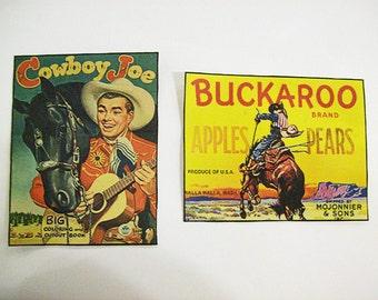 retro cowboy patch set vintage 1950's western buckaroo sew on patch rockabilly kitsch