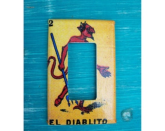 Loteria rocker switch plate retro Mexico pop culture vintage dimmer switch kitsch