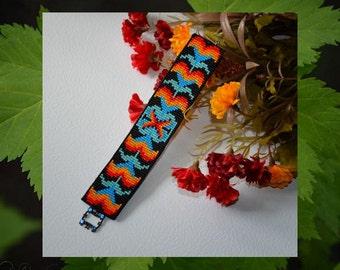 Bead PATTERN Cerrillos Cuff Bracelet Loom Square Stitch