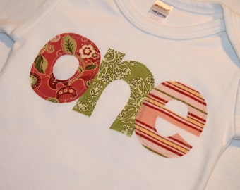 Girls First Birthday ONE Shirt - 12-18 month long sleeve