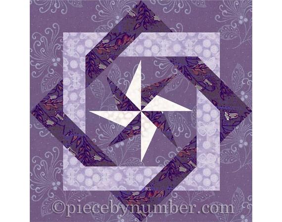 Interlocked Squares Quilt Block Paper Pieced Quilt Patterns