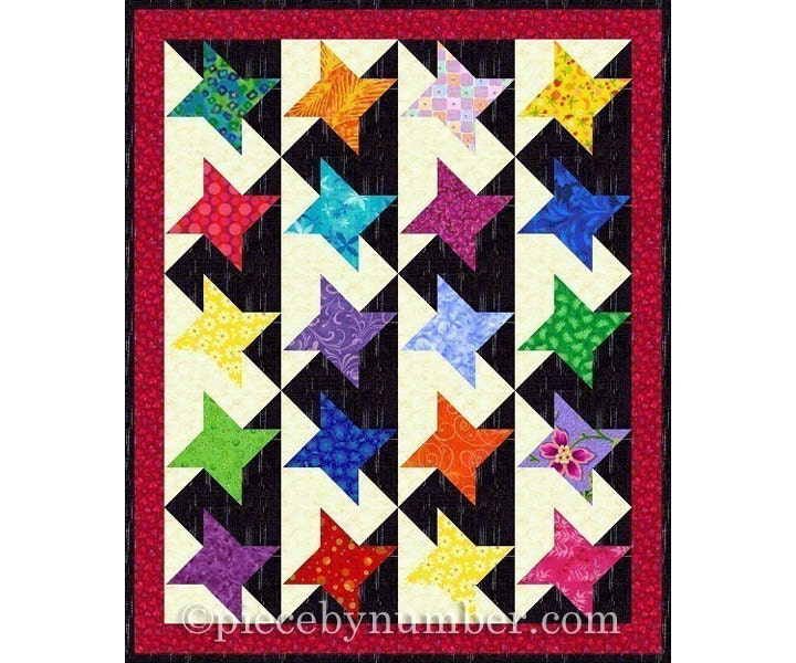Mini Quilt Block Template Set : Stars of Glory Quilt Pattern plus bonus mini-quilt pattern