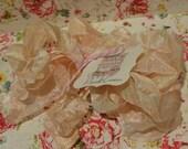 Hand Dyed Seam Binding Crinkle Ribbon Pink Cream