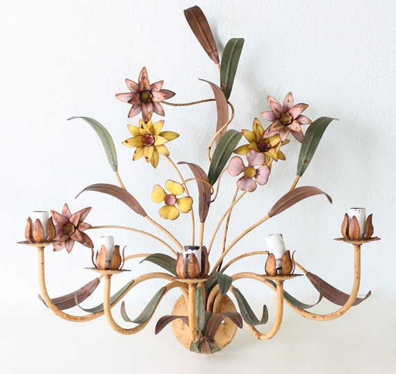 Wall Sconces With Flowers