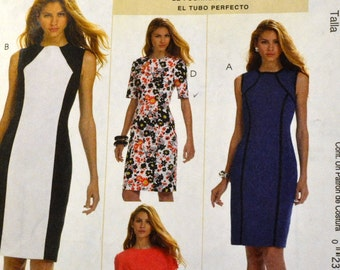 Sewing Pattern McCall's 6028  Misses' Sheath Dress Bust 30- 36 inches Uncut Complete