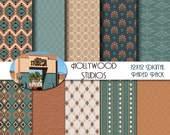 Disney Hollywood Studios- Carthay Circle - Vintage Hollywood - Art Deco Inspired 12x12 Digital Paper Pack  - INSTANT DOWNLOAD