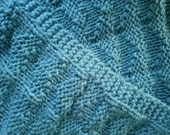 Luxurious Teal Hand-Knit Throw