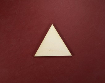 Equilateral Triangle Unfinished Wood Laser Cut Shapes Crafts Variety of Sizes