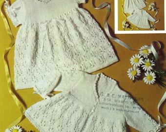 Vintage Babys Coat and Dress, Knitting Pattern, 1960 {PDF} Pattern, Patons 6444