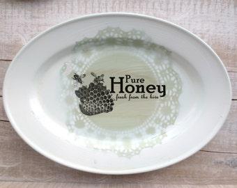 Farmhouse Kitchen Sign // Vintage Honey Sign // AQUA Green Kitchen // Shabby Chic Beach Cottage //  Kitchen Wall Decor // Honey Bee
