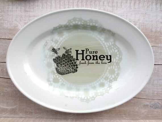 Sale - Farmhouse Decor - Kitchen Sign - Raw Honey Sign - Shabby Kitchen - Cottage Kitchen - Wall Decor - Honey Bee - 60% Off