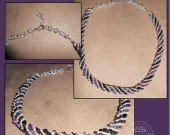 Plum Delight Russian Spiral Necklace