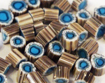 "Handmade Murrini Chips COE 104 For Lampwork Artists ""Nantucket 3"" by Solaris Beads MB21"