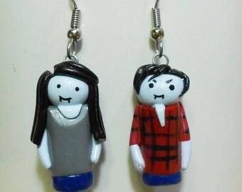Marceline and Marshall Lee earrings