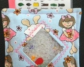 I Spy Bag - Mini with SEWN Word List and Detachable PICTURE LIST- Flower Girl