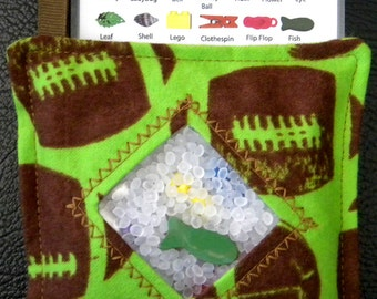 I Spy Bag - Mini with SEWN Word List and Detachable PICTURE LIST- Football Fan