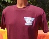 vintage 80s t-shirt U PENN medical school university pennsylvania john mikuta society tee shirt Large ob gyn upenn