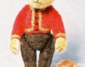 Bellhop Bear Miniature Teddy Bear Kit - Pattern - by Emily Farmer