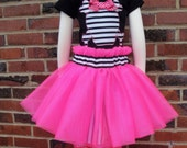 Girls Pirate Costume for Kids, Toddlers, Babies - Shirt OR Bodysuit, Skirt, Tutu, Leg Warmer - Great Gift for Halloween or Birthday Parties