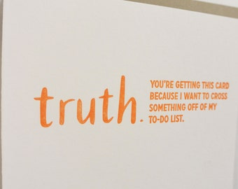 Letterpress TRUTHnote. To-Do List.