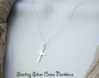 Cross Necklace - Sterling Silver Cross Necklace, Religious Gift, Mother Sister Necklace, Christian Necklace Special Gift