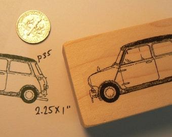 P35 Mini cooper car rubber stamp