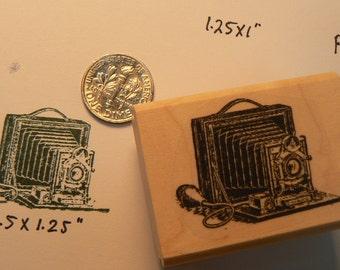 Mini photo camera rubber stamp P32