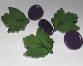 Grapes and Leaves Push Pins for Bulletin Board