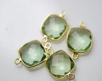 2 beautiful greenamethyst color connectors 18.00