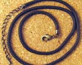 """16"""" Antique Brass Mesh Chain Jewelry Supply Mesh Choker"""