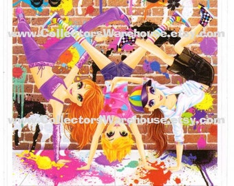 Lisa Frank Large Break Dancing Girls Sticker