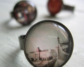 Budapest Ring - Polaroid Painting - Hungarian Souvenir
