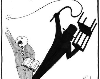 Pastor Don's Shadow Cartoon PRINT