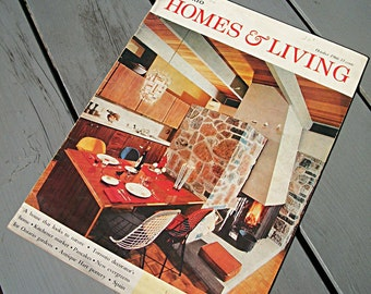 Vintage Magazine, Ontario Homes and Living, 1966