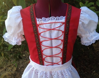 Girls Dirndl size 5-8 made to order