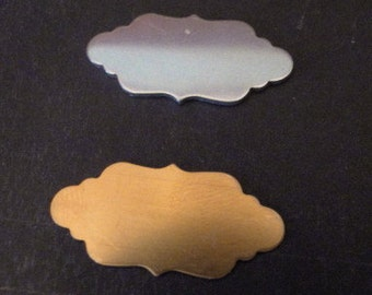 Blanks - Small FANCY PLACQUE Design - 18g - perfect for your enameling or metal stamping needs