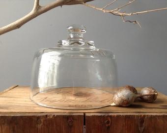 VINTAGE DOME... glass terrarium supplies - Summer picnic -Cheese platter -Wedding Decor-rustic table setting