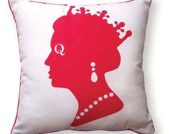 British Union Jack Queen Pillow (Red,White &Blue)