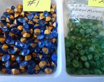 Choose your 21ss Vintage Glass Stones 100 pcs. VL 1