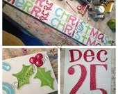 Merry Christmas hand painted wooden sign