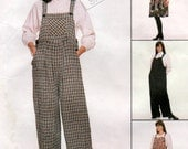 Ladies 90s Maternity Jumpsuit and Jumper Pinafore Dress Sewing Pattern 3 sizes McCalls 7840
