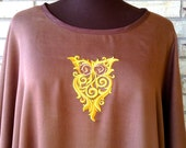 Plus Size Embroidered Owl Tunic