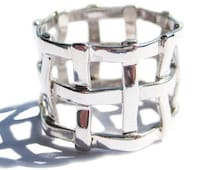 Unique Silver Ring Woven Sterling for Woman Jewelry