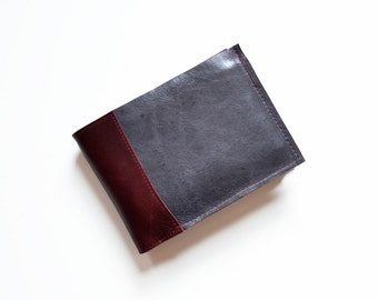 Men's Wallet, Leather Bifold Wallet, Gift for Men, Leather Wallet Men, Husband Gift, ID Holder Wallet - The Wesley Wallet in Dark Slate Grey