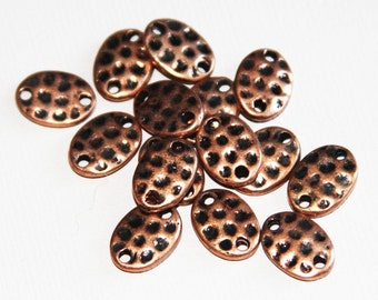 15 pcs of  Antiqued copper oval connector 11x8mm