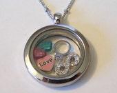 Bridal Shower Necklace, custom designed with bride and groom's birthstones